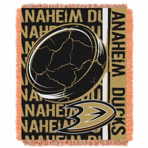 Anaheim Ducks Double Play Woven Throw Blanket