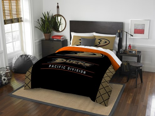 Anaheim Ducks Draft Full/Queen Comforter Set