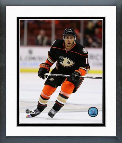 Anaheim Ducks Emerson Etem Action Framed Photo