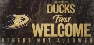 Anaheim Ducks Fans Welcome Sign