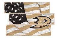 Anaheim Ducks Flag 3 Plank Sign