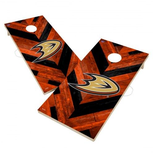 Anaheim Ducks Herringbone Cornhole Game Set