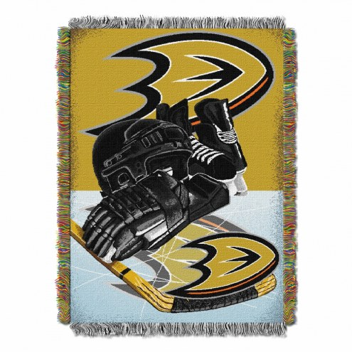 Anaheim Ducks Home Ice Advantage Throw Blanket