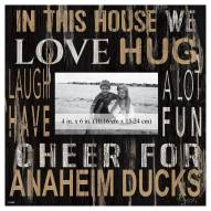 """Anaheim Ducks In This House 10"""" x 10"""" Picture Frame"""