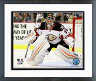 Anaheim Ducks John Gibson Action Framed Photo