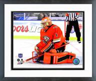 Anaheim Ducks Jonas Hiller 2014 NHL Stadium Series Action Framed Photo