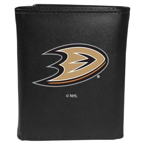 Anaheim Ducks Large Logo Leather Tri-fold Wallet