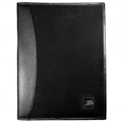 Anaheim Ducks Leather and Canvas Padfolio