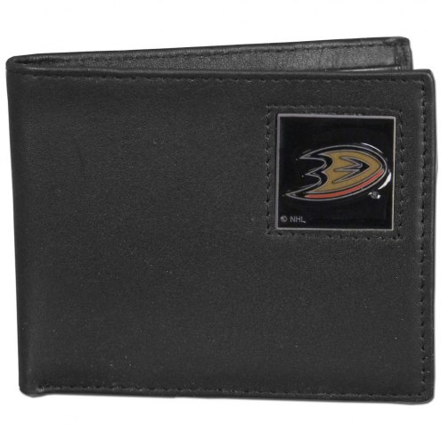 Anaheim Ducks Leather Bi-fold Wallet in Gift Box