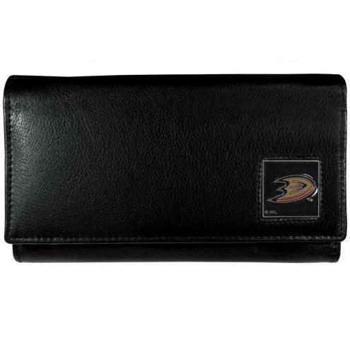 Anaheim Ducks Leather Women's Wallet