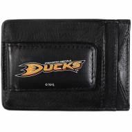 Anaheim Ducks Logo Leather Cash and Cardholder
