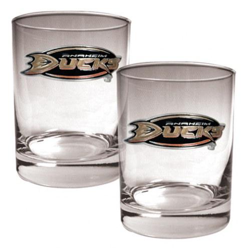 Anaheim Ducks NHL Rocks Glass - Set of 2