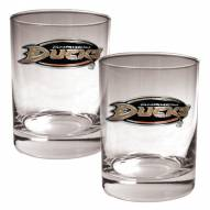 Anaheim Ducks NHL Rocks Glass - Set of 2