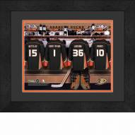 Anaheim Ducks Personalized Locker Room 13 x 16 Framed Photograph