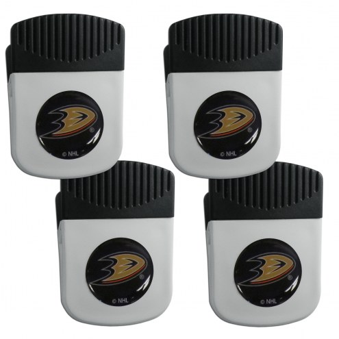 Anaheim Ducks 4 Pack Chip Clip Magnet with Bottle Opener