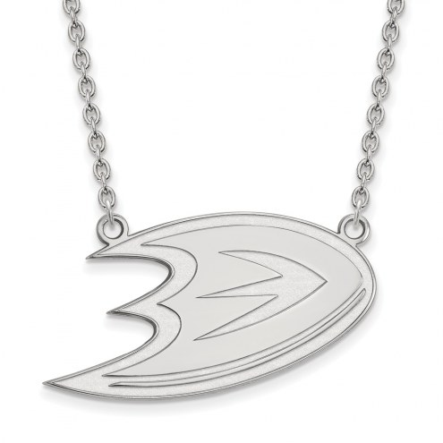 Anaheim Ducks Sterling Silver Large Pendant Necklace