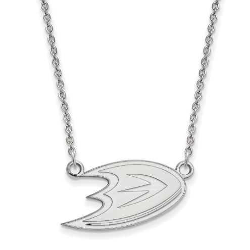 Anaheim Ducks Sterling Silver Small Pendant Necklace