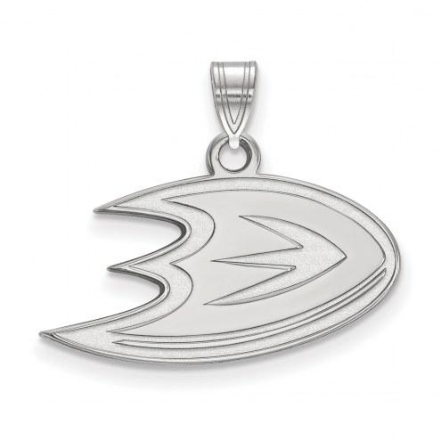 Anaheim Ducks Sterling Silver Small Pendant
