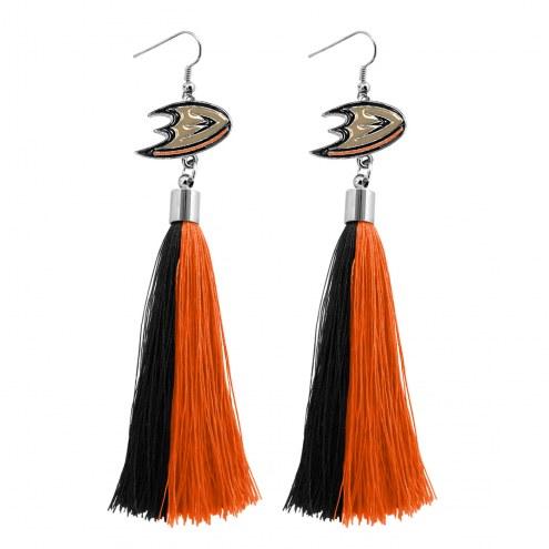 Anaheim Ducks Tassel Earrings