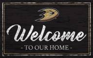 Anaheim Ducks Team Color Welcome Sign