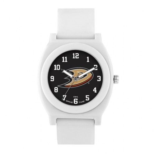 Anaheim Ducks Unisex Fan White Watch