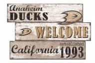 Anaheim Ducks Welcome 3 Plank Sign