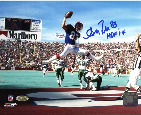 "Andre Reed Horizontal Jump in End Zone Bills 8x10 w/""HOF 14"" Insc."