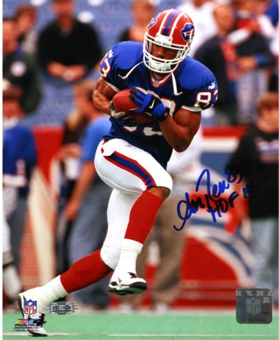 """Andre Reed Running with Ball Vertical Bills 8x10 w/""""HOF 14"""" Insc."""