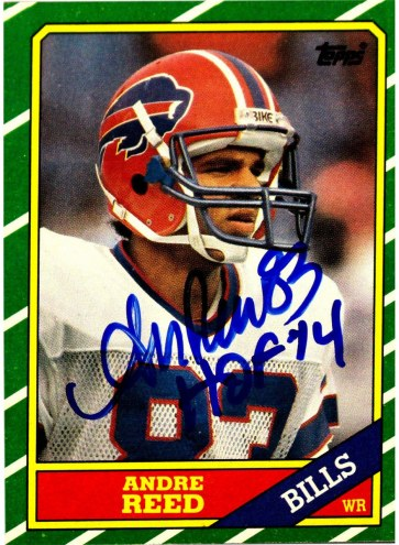 Andre Reed Signed 1986 Topps Rookie Card w/HOF 14 Inscription