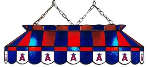 "Los Angeles Angels of Anaheim MLB Team 40"" Rectangular Stained Glass Shade"