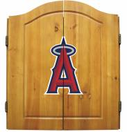 Los Angeles Angels Dart Board Cabinet Set