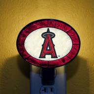 Los Angeles Angels of Anaheim MLB Stained Glass Night Light