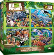 Animal Planet 100 Piece Puzzle - 4 Pack