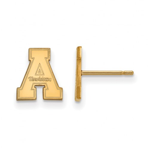 Appalachian State Mountaineers Sterling Silver Gold Plated Extra Small Post Earrings
