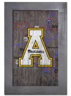 "Appalachian State Mountaineers 11"" x 19"" City Map Framed Sign"