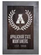 "Appalachian State Mountaineers 11"" x 19"" Laurel Wreath Framed Sign"