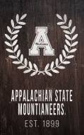 "Appalachian State Mountaineers 11"" x 19"" Laurel Wreath Sign"