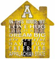 "Appalachian State Mountaineers 12"" House Sign"