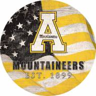 "Appalachian State Mountaineers 12"" Team Color Flag Circle Sign"