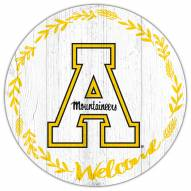 "Appalachian State Mountaineers 12"" Welcome Circle Sign"