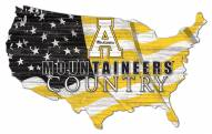 "Appalachian State Mountaineers 15"" USA Flag Cutout Sign"