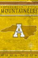 "Appalachian State Mountaineers 17"" x 26"" Coordinates Sign"