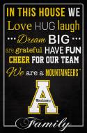 "Appalachian State Mountaineers 17"" x 26"" In This House Sign"