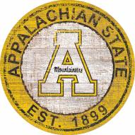 "Appalachian State Mountaineers 24"" Heritage Logo Round Sign"