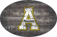 "Appalachian State Mountaineers 46"" Distressed Wood Oval Sign"