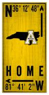 "Appalachian State Mountaineers 6"" x 12"" Coordinates Sign"