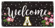 "Appalachian State Mountaineers 6"" x 12"" Floral Welcome Sign"