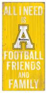 "Appalachian State Mountaineers 6"" x 12"" Friends & Family Sign"