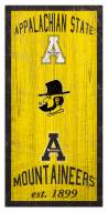 "Appalachian State Mountaineers 6"" x 12"" Heritage Sign"
