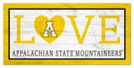 "Appalachian State Mountaineers 6"" x 12"" Love Sign"